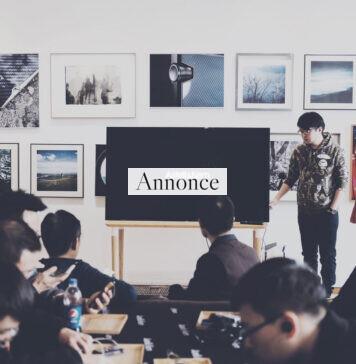 En præsentation på et fjernsyn